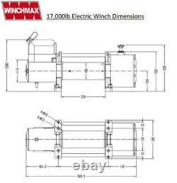 Électric Winch 12v Recouvrement 4x4 17,000lb Winchmax Treuil Originaire Originaire Remote