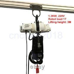 Fix Palan Électrique 0.5t / 1t Outil De Levage Treuil À Distance Par Câble Corde Solide Chaîne 220 V