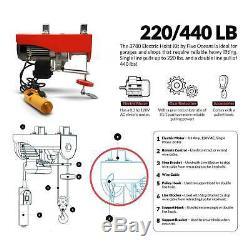 Frais Généraux Palan Électrique 440lb Grue Câble De Levage Treuil Avec Télécommande Fo-3780-3