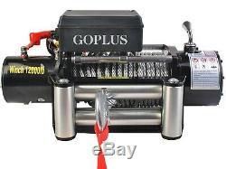 Goplus Classique 12000 Lbs 12 V Électrique De Récupération Winch