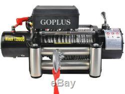 Goplus Classique 12000 Lbs 12 V Récupération Treuil Électrique At3373 Wc