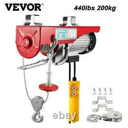 Grue Électrique De Levage 440 Lbs 200 KG Treuil De Garage Avec Ascenseur Portable Neuf