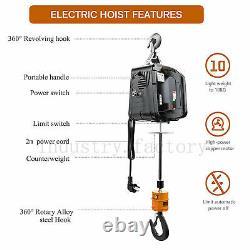 Grue Portative Treuil Électrique 1100 Lbs 7.6meters Télécommande Sans Fil