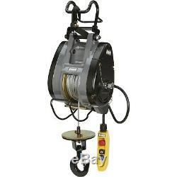 Hoist Câble Électrique Bannon Compact 790-lb. Capacité, 124ft. Ascenseur, 220-240 V