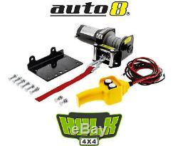 Hulk 4x4 Hu1500 12v Électrique Atv Winch 1500kgs Avec Câble D'acier Et Support De Montage