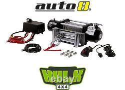 Hulk 4x4 Hu9500 12v Electric Winch 4300kg 9500lbs Câble D'acier Avec Télécommande Câblée