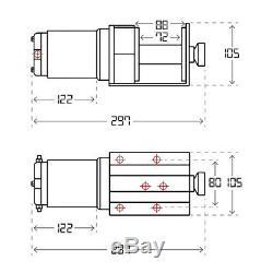 Kit De Treuil Électrique Atv Speedmaster 2500lbs / 1130kgs 12v 12v Avec Interrupteur À Distance