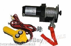 New 2000 Lbs Électrique Remorque De Winch Vtt / Bateau / Camion / Voiture 12v Entrée 1 HP