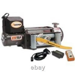 New Keeper Kw13122 12 Volt Electric 13 500 Lb Treuil Avec Télécommande 92 Ft X 3/8
