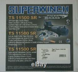 Nib Superwinch 1511201 Tiger Shark Ts 11500 12v Sr Winch 11500 Lbs Ts11500sr