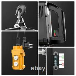 Nouveau 440 Lb Electric Cable Hoist Crane Lift Garage Auto Shop Winch Withremote 110v