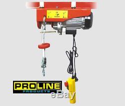 Nouveau Bouton D'urgence De Sécurité Pro 120v 880 Lb Electric Winch Hoist 880lb