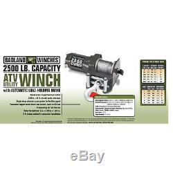 Nouveau Contrôle À Distance De La Télécommande Sans Fil Utv Atv Winch 2500 Lb 1-1 / 4 Ton 12v