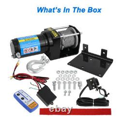 Offroad 4500lb Winch Atv Ute 12v Electric Remote Waterproof Boat Steel Cable Kit
