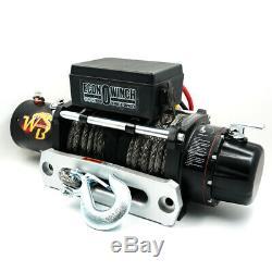 Ours Sauvage DC 12v 10000lbs Treuil Électrique 24m Corde Synthétique Sans Fil À Distance 4 Roues Motrices
