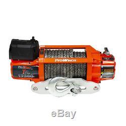 Prowinch 17500 Lbs Corde Synthétique Winch Électrique Étanche 12v Sans Fil