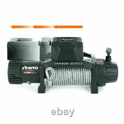 Récupération Électrique De Treuil De Rhino, 12v 13500lb Carbone Lourd De Service 4x4 Câble En Acier