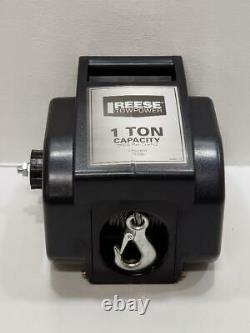 Reese Towpower 70336 1 Ton/2000 Lb 29 Ft Portable Electric Boat Atv Truck Winch