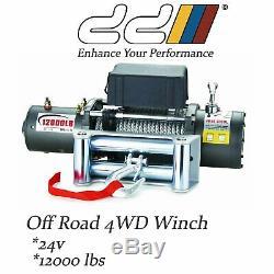 Remorque Télécommandée 4wd Suv Jeep Neuve DD 12000lb 24v Récupération Électrique