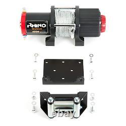 Rhino Electric Winch Wireless 4500lb / 2040kg 12v Noir De Carbone