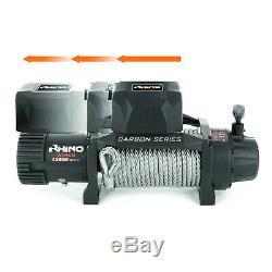 Rhino Winch Électrique De Récupération, 12v 13500lb Carbon Heavy Duty 4x4 Câble D'acier