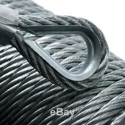 Rhino Winch Électrique De Récupération, 12v 13500lb Carbone 4x4 Acier + Plaque De Montage