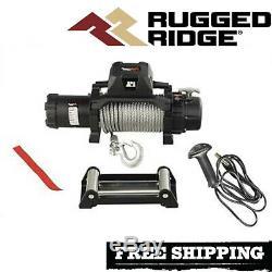 Ridge Robuste Trekker 12.500 Lbs Treuil Avec Câble Et Filaire À Distance