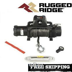 Robuste Ridge Trekker 12.500 Lbs Treuil Avec Corde Synthétique Et Sans Fil À Distance