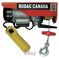 Rodac 440 / 880lb Treuil Électrique 110 Volts Hr400