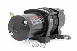 Rough Country 4500lb Utv /atv Electric Winch Avec Corde Synthétique