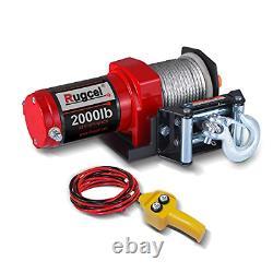 Rugcel Electric 12v 2000lb/907kg Treuil Étanche Monoligne
