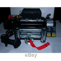 Sto 13000lb Électrique De Récupération Winch Universal Dc12v / 24v Câble D'acier Corde De Remorquage