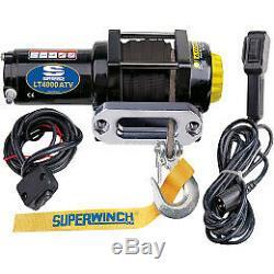 Superwinch 12v DC Treuil Électrique-4000lb. Casquette. 50 Pieds Corde Synthétique, # 1140230