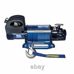 Superwinch 1695201 Winch Electric 12v 9500lb Hawse Fairlead 90 Ft Ligne Synthétique