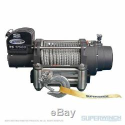 Superwinch 17500 Lbs 12 VDC 1 / 2in X 90 Pieds Corde En Acier Tiger Shark 17500 Winch