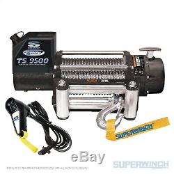 Superwinch Tiger Shark 9500 Winch 9500 Lbs 95 Ft Wire Rope À Distance Du Portable