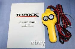 Torxx Promaxx W80020 Utlity Winch 2000lb Camion Sideby Side 4 Wheeler Remorque