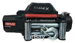 Trail Fx Wr08b Recovery Winch 12 Volt Capacité 8000lbs 94' Wire Rope