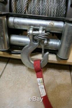 Travail Avertir M15000 Winch 15000 Lb 12v Auto-récupération Treuil Câble De Commande Hook
