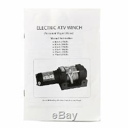 Treuil 12 VDC 3500lbs / 1591kg Avec Câble Électrique En Acier Pour Guide-câble - Ca Ship