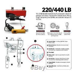 Treuil De Garage Électrique Aérien De Grue De Levage De Grue De 440 Livres Avecremote 110v Fo-3780-2