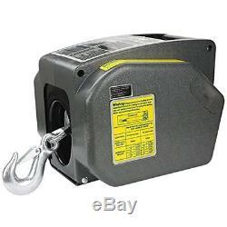 Treuil De Remorque Megaflint, Électrique Réversible Pour Bateaux Jusqu'à 6000 Lb 12v Et