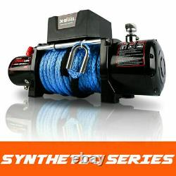 Treuil De Voiture 12000lb Rope Synthétique Étanche Ip67 Télécommande Sans Fil À Main