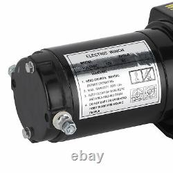Treuil Électrique 12v 2000lbs Capacité De Charge Télécommande Treuil À Haute Efficacité