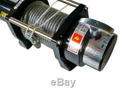 Treuil Électrique 12v 2721 KG / 6000lb 3300w, Longueur 20 M Diam. 7.2mm