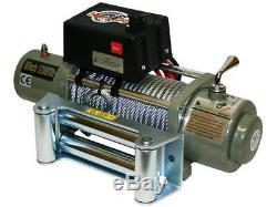 Treuil Electrique 12v 4x4 12000lbs, Moteur 4800w 6.5ps, Longueur 28m, Cable Ø9.4mm, Neuf