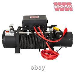 Treuil Électrique 12v 4x4 13500lb Military Spec. Marque Winchmax + Corde Synthétique