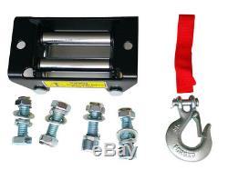 Treuil Electrique 12v 4x4 1360kg / 3000lbs, Moteur 1000w 1.34ps, Longueur De 9,2m Ø5,5mm