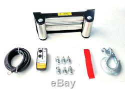 Treuil Électrique 12v 5443kg / 12000lb 4800w, Longueur 28m Diam 9.1mm