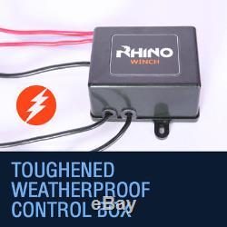 Treuil Électrique 12v, Charge De 3000 Lb, Vtt, Remorque, Récupération De Bateau 4x4 Rhino